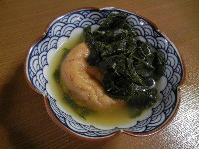 小松菜とがんもどきの煮物