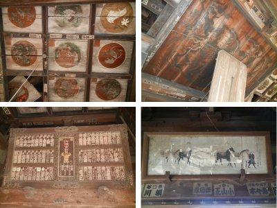 旧本堂・天井画&絵馬など
