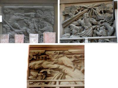 日枝神社本殿の彫刻