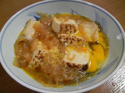 焼き豆腐のすき焼き風