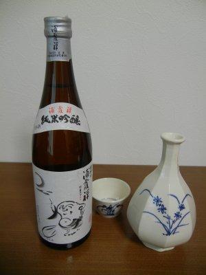 浦霞禅・李朝染付八角徳利&蕎麦ちょこ風ぐい呑み