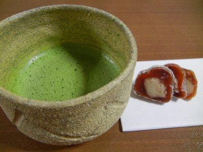 彫唐津茶碗写し