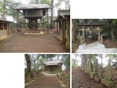 日枝神社・本殿、拝殿、鳥居、出羽三山巡拝記念碑・石仏など