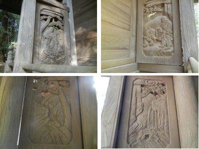湯殿神社・本殿彫物