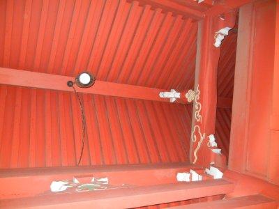 仁王門の天井