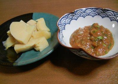 山椒和え味噌 とタケノコ