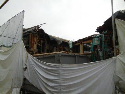 太栄館・解体工事中