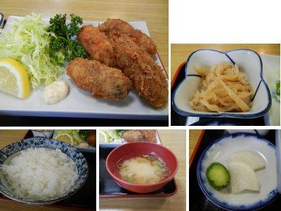 カキフライ定食内訳