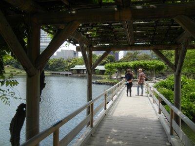 お伝い橋から見た中島の御茶屋