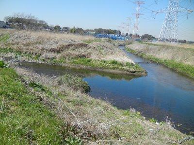 神崎川と二重川の現合流点