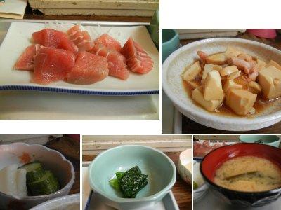 ブツ定食と肉豆腐・内訳
