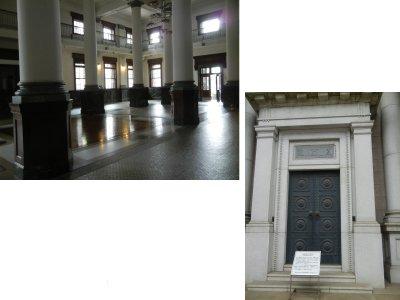 美術館一階は、旧川崎銀行千葉支店