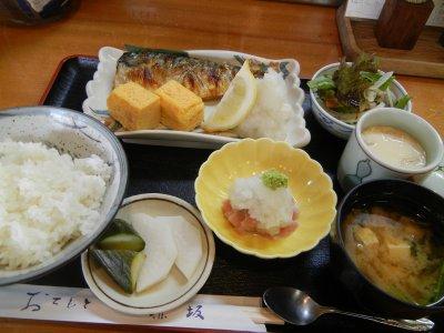 焼き魚定食(鯖)
