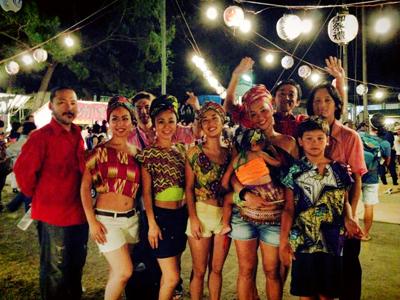 アフリカンゴスペルグループ『マレンボ』LIVE後にパチリッ! - 神明社夏祭り2014 宵宮祭