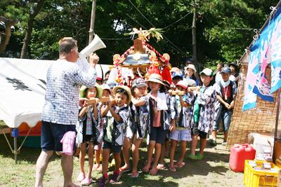 かわいい!こども神輿 - 葉山下山口宵宮祭り2014