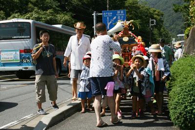 こども神輿 - 葉山下山口宵宮祭り2014
