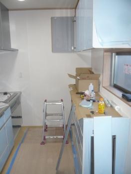 キッチン施工 20150227