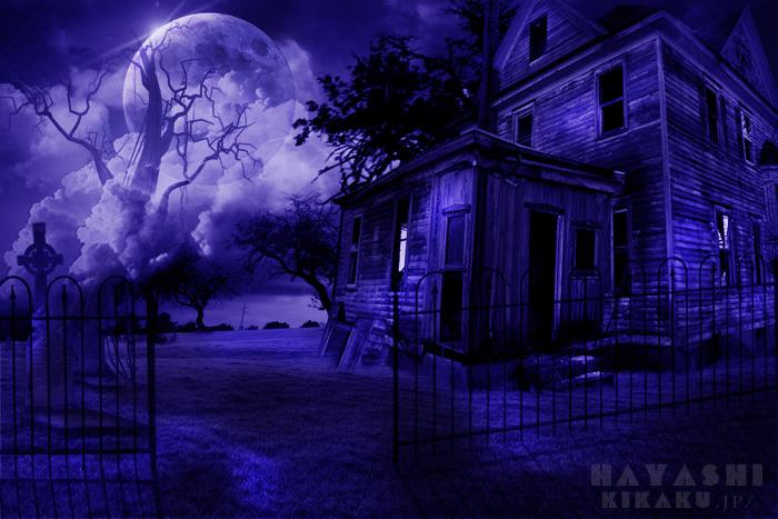 廃墟と満月700