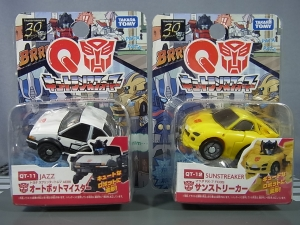 キュートランスフォーマー QT11 オートボットマイスター (トヨタ スプリンタートレノ AE86) QT12 サンストリーカー (マツダ RX-7 FD3S)001