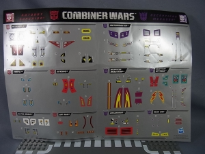 TF Generations Combiner Wars Superion Menasor dress up sticker 02001
