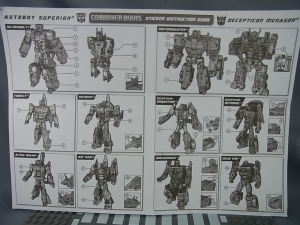 TF Generations Combiner Wars Superion Menasor dress up sticker 02002