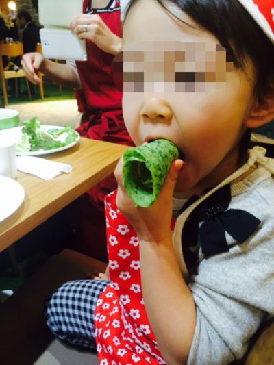 2015.1.11小松菜クレープ5