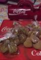 サービスの手作りクッキー(チョコ&プレーン)