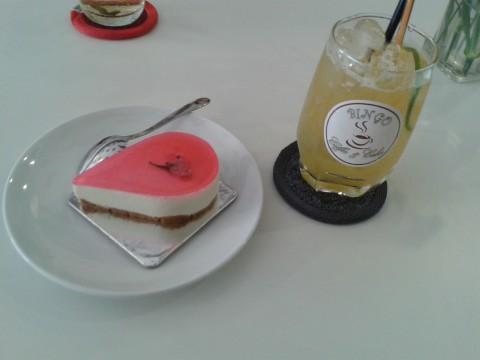 桜チーズケーキ1