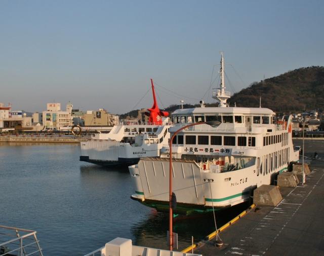 IMG_6769 夕日の土庄港(640x505)