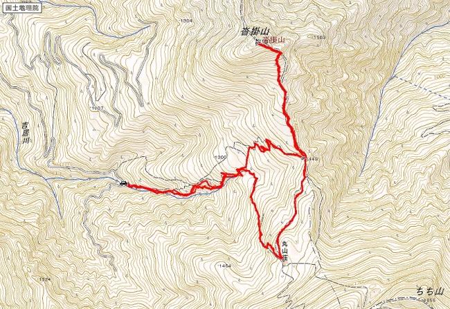 s-沓掛山トレース