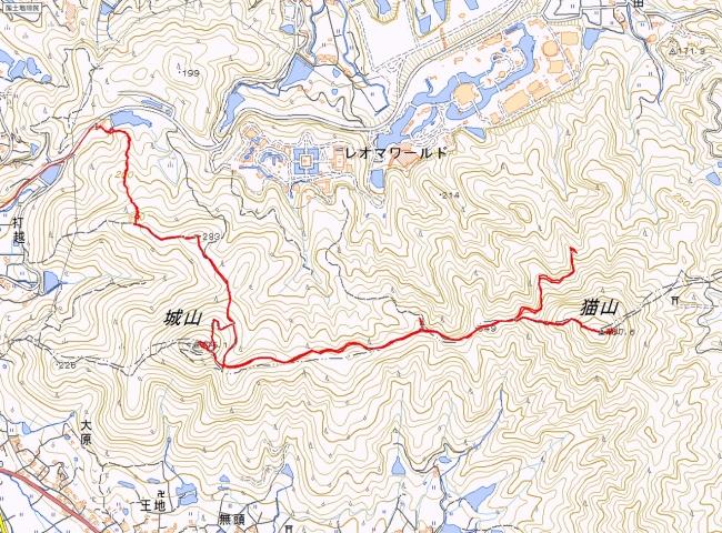 城山・猫山トレース