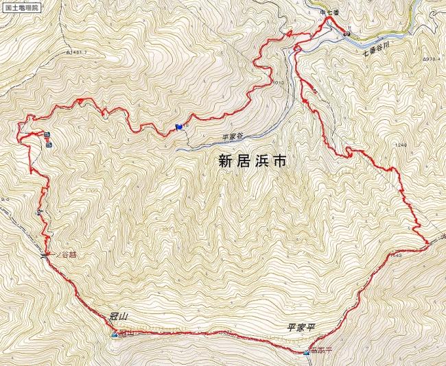 s-冠山・平家平トレース