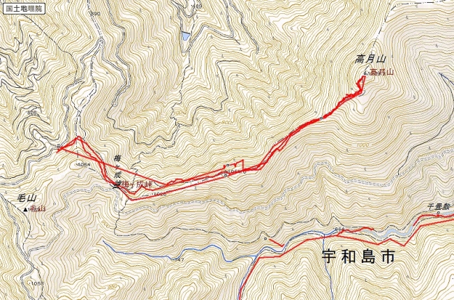 s-高月山トレース