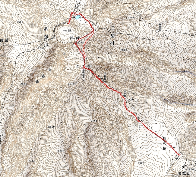 s-御嶽山トレース