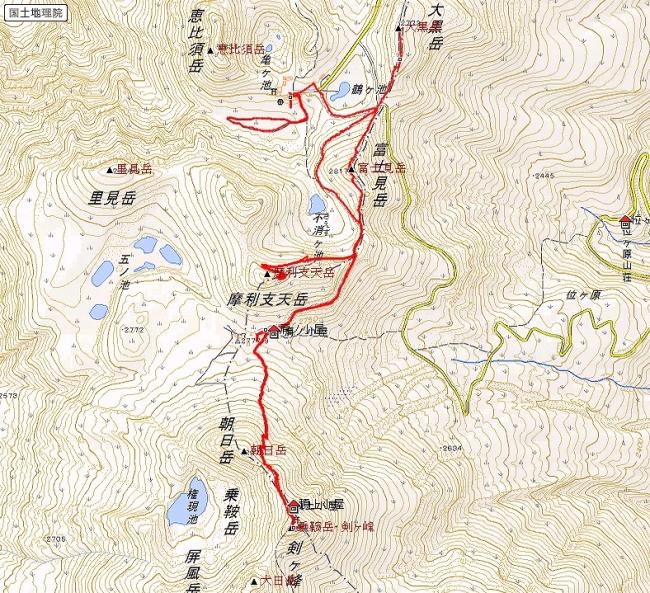s-乗鞍岳トレース