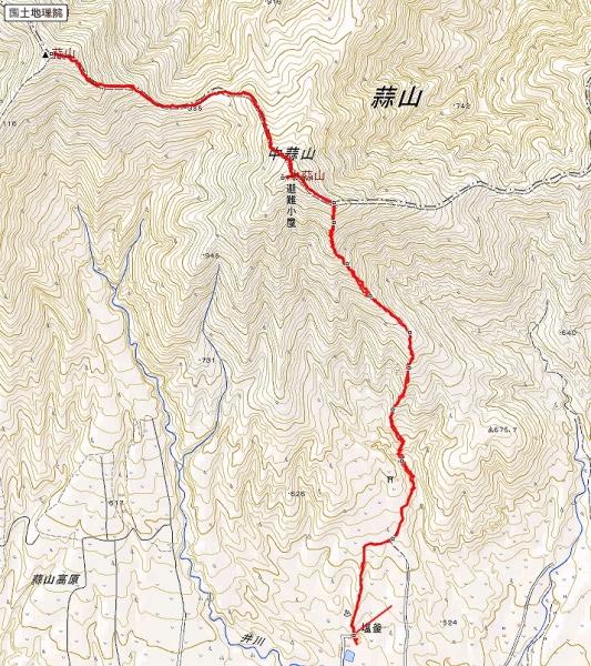 s-蒜山トレース
