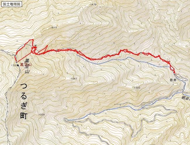 s-黒笠山トレース