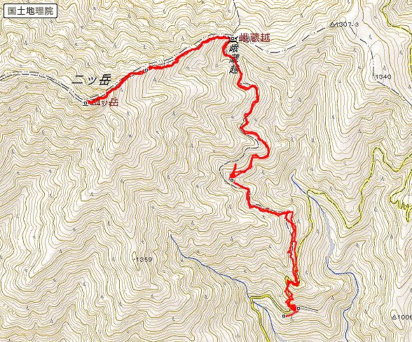 s-二ツ岳トレース