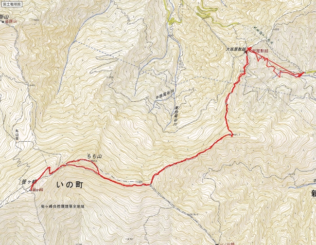 s-笹ヶ峰トレース