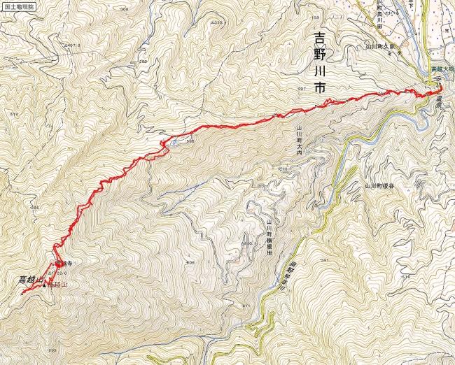 s-高越山トレース