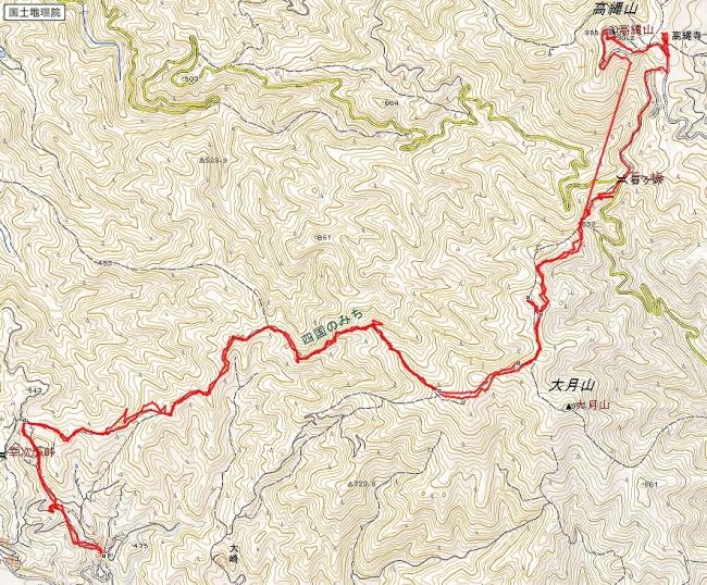 s-高縄山トレース