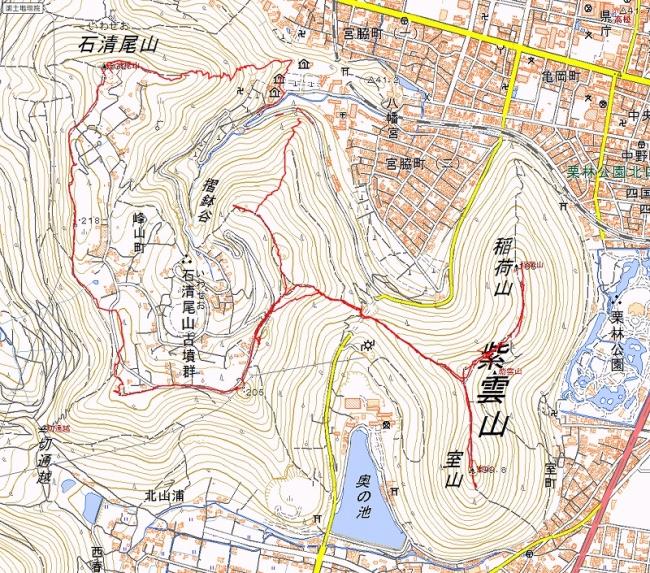 s-石清尾山トレース