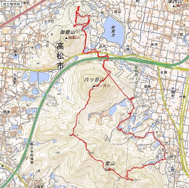 s-堂山トレース
