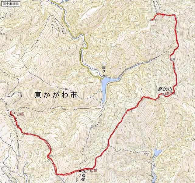 s-鉢伏山トレース