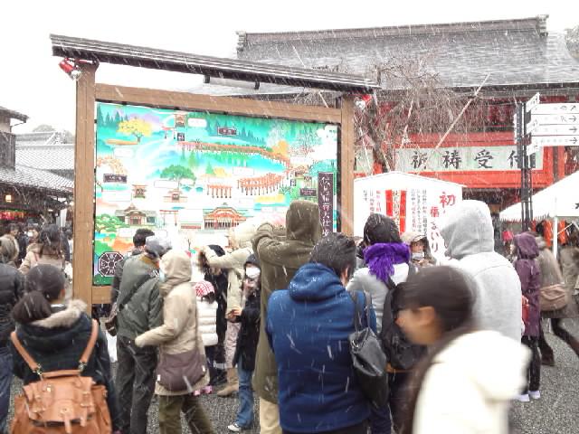 伏見稲荷大雪