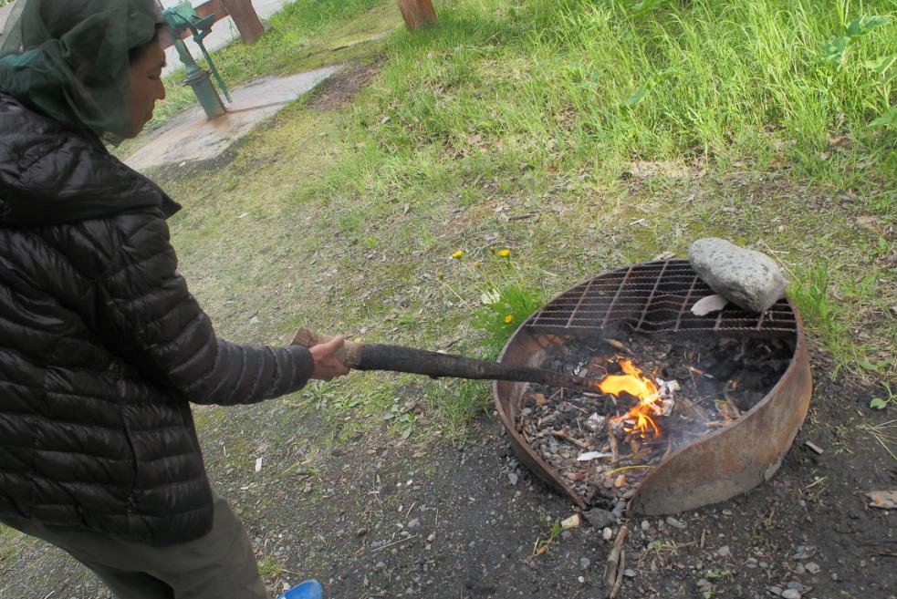 ついでにたき火20150607