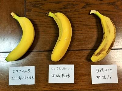 バナナ食べ比べ3