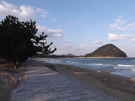 HA18菊ヶ浜より指月山を望む