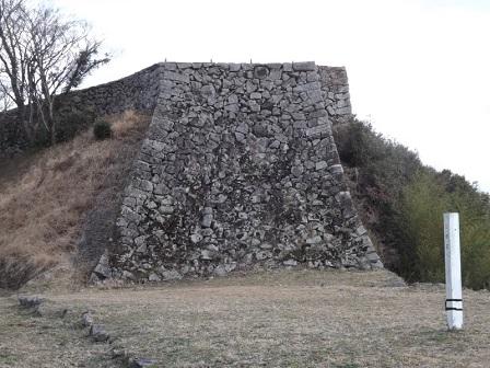 TU18津和野城人質櫓石垣