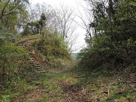 主郭北側斜面下の堀切